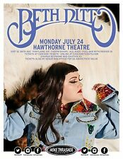 BETH DITTO 2017 PORTLAND CONCERT TOUR POSTER-Indie Rock,Post-punk,Synthpop Music