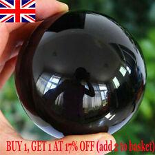 40MM Natural Black Obsidian Sphere Large Crystal Ball Healing Stone Gemstone UK