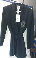 Womens  Mondi Designer The Company-Blazer tie up. Black -NWT