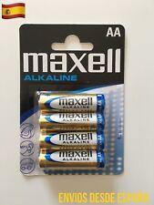 4 Pilas Blister MAXELL AA LR6 MN1500 Alkaline Battery alcalina Original 1.5V