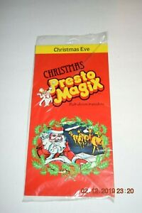 Presto Magix 1982 Rub-down Transfers Christmas Eve
