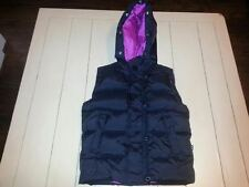 Alpha Industries Size XS Black & Pink Hooded Goose Down Puffer Vest