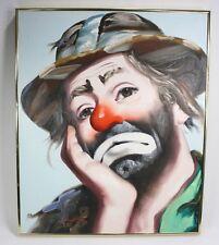 "RUSTY RUST Signed Original Oil Painting 24""X20"" CLOWN Emmett Kelly ©1985 89/250"