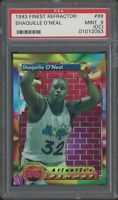 1993 Finest Refractor Shaquille O'Neal #99 PSA 9 MINT
