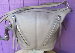 Vince Camuto Nikia Convertible Leather Backpack Hobo Shadow Grey Leather Bag