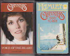 Carpenters - Ticket To Ride & Voice Of The Heart - 2x Cassette Tape Albums