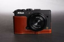 Handmade Genuine real Leather Half Camera Case bag cover for Nikon  Coolpix A