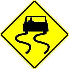 Slippery When Wet - 24 x 24. A Real Sign. 10 Year 3M Warranty.