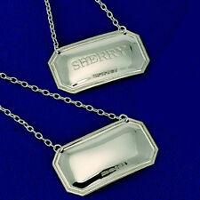 Sterling Silver Rum - DECANTER / Label - Wine Label - Rum - Hallmarked - silver