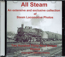 Steam Locomotive Photos on CD - 239 Rare Photos taken from 1931 to 1956