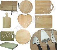 WOOD WOODEN ROUND / RECTANGULAR BOARD ROLL CUTTING CHOPPING DICING KITCHEN FOOD