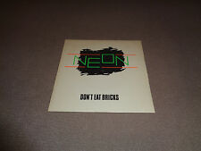 "Neon - Don't Eat Bricks - Radar 7"" Vinyl 45 - UK - PS - 1978 - NM-"