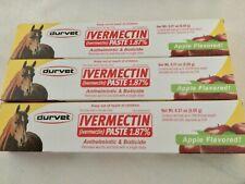 Lot 3 - Durvet Horse Paste Apple Wormer Bots Tube Parasites 1.87% Exp 2/23