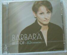 Best of 20 chansons Barbara Georges Moustaki Mercury CD