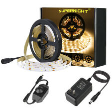 SUPERNIGHT® Warm White 5M 300LEDs 2835 DC Port LED Strip Light+Dimmer+12V Power