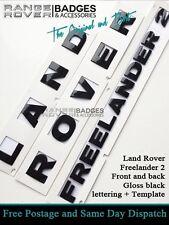 Land Rover Freelander 2 Badge Lettering Boot Bonnet Black Land Rover Letters