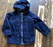OLD NAVY Cotton Hooded Coat Navy Size 5T