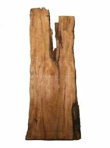 Apfelbaum Brett Riegel Epoxid Holz rustikal 128x39/46cm 28mm