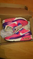 GENUINE NIKE AIR MAX 90 HYPERFUSE PINK PURPLE & WHITE TRAINERS UK5
