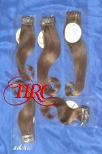 LIGHT BROWN JOSE EBER HIGH QUALITY 100% HUMAN HAIR EXTENSIONS 5 PIECE CLIP ON