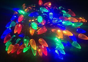 100 Multicolour Pine Cone/Acorn Christmas Lights/8 Multi-Function/Indoor Faulty!