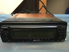New Old School Sony MDX-400 4 Minidisk Changer,Cd Player,Quattro,RARE,Display