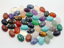 Wholesale 30pcs/lot Mixed Natural Gemstone Oval CABOCHON Stone Beads 10*14mm