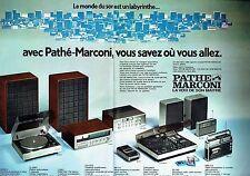 Publicité Advertising 037  1975  Pathé Marconi (2p)  hi-fi   magnétophone  radio