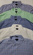 Lot of 5 J Crew Mens Large Slim Fit Button Down Shirts