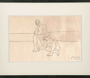Pablo Picasso Drawing Female French Nude Roman Greek Classical Vollard Woman