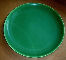 "BAUER Los Angeles Dark Green Olive Green 9¼"" Luncheon Plate aka Dinner plate"