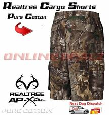 Realtree Camo Cargo Shorts Hunting Pants Pockets Camouflage Fishing Archery Army