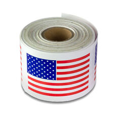 "USA Stickers American Citizen Legal Human Flag Labels (2"" x 3"", 1PK, 300 Rolls)"