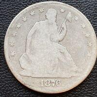 1876 Seated Liberty Half Dollar 50c Circulated Rare #23396