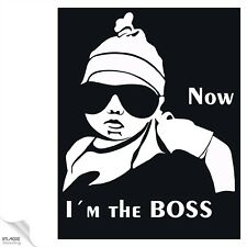"""Hangover Baby Aufkleber Sticker """"I´m the BOSS"""" Kind on Board Decal Autoaukleber"""