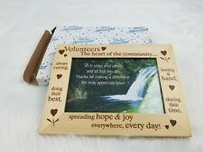 Volunteer Appreciation Picture Frame 4 x 6 Photograph Thank You Gift Gratitude