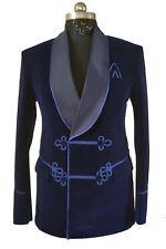 Men Blue Smoking Jacket Party Wear Blazers Elegant Luxury Stylish Designer Coats