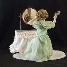 """Danbury Mint Porcelain Dolls, Norman Rockwell """"Cover Girl"""" Collection, Going Out"""