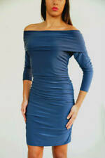 Clearance Wholesale x5 Off The Shoulder Bodycon Blue Dresses Size 14