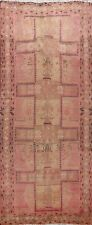 Antique Tribal Meshkin Hand-knotted Geometric Runner Rug Oriental Carpet 5x11 ft