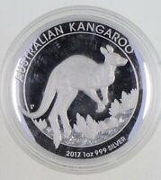 2017 Australian Australia Kangaroo High Relief 1 Oz Silver .999 *964