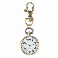 Bronze Key ring Watch Pocket Round Retro Quartz Vintage Pocket Watch Movement