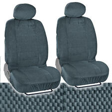 Charcoal Auto Seat Covers Checkered Cloth Scottsdale style Premium Low Back 4pc