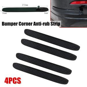 4-Pack Car Body Bumper Corner Rubber Strips Anti-scratch Protector Guard Trims