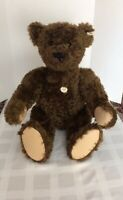 "Steiff 27"" Brown Mohair Teddy Bear 1907 Replica 1993 Limited Edition  Growler"