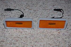 1970 Road Runner GTX Amber Front Side Marker Assembly Lamp Lenses lens mopar