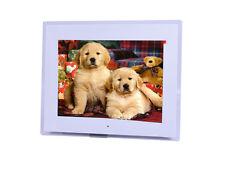 15'' HD LCD Marco Fotos Digitales MP4 AVI Reproductor Escritorio Remoto Blanco