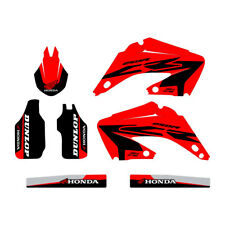 Honda CR250 2002-2012 graphic kit FREE SHIPPING!!! Custom Black and Red