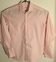 Armani Collezioni Mens Pink Button Up Dress Shirt Size 43 17 L  Made In Italy