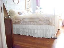 "15"" Drop Multi Ruffle Bed Skirt 800 Tc 100% Egyptian Cotton Twin/Full/Queen/King"